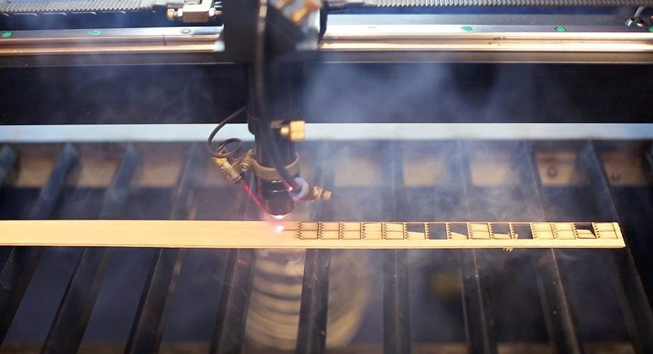 laser cutting wooden wick